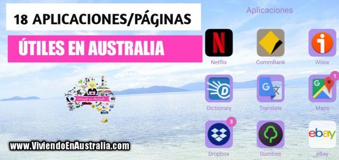 18 aplicaciones utiles en Australia