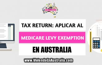 Tax return - aplicar al medicare levy exemption
